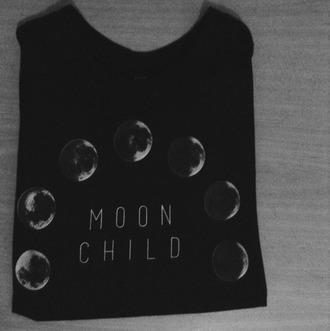 t-shirt top moon