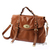 Brown Real leather handbag shoulder bag messenger purse | eBay
