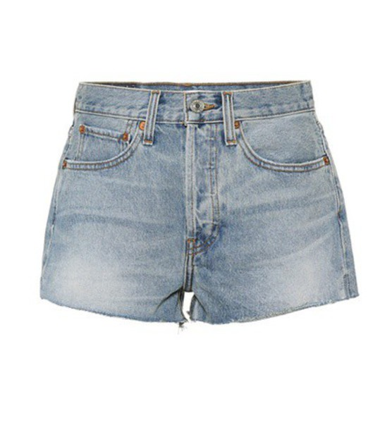 Re/Done The Short denim shorts in blue