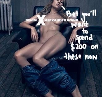 jeans alexander wang sexy
