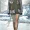 Olive canvas jacket with sequin mesh by rodarte | moda operandi