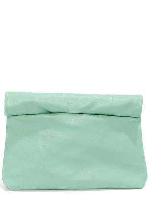Cute Mint Green Clutch - Vegan Leather Clutch - Mint Green Purse - $29.00