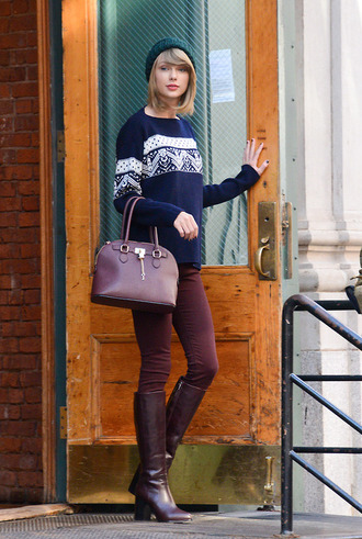 jeans boots fall outfits sweater taylor swift