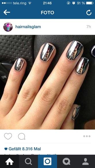 nail polish silver mirror metallic mirror nail polish