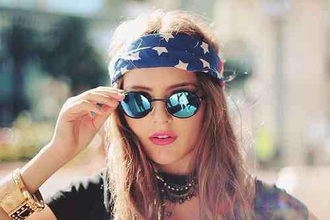 hair accessory glasses sunglasses accessory blue turquoise spring cool teenagers hipster rayban