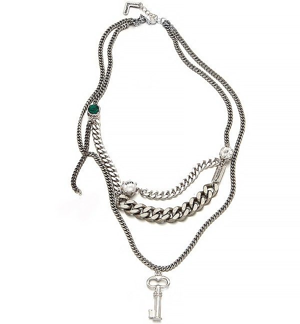 Multi-layer Necklace With Key Pendant
