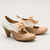 Sylvia 1930s Two-Tone Pumps by Chelsea Crew (Nude/White)