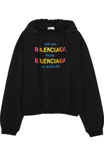 Balenciaga top cotton black