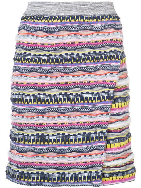 Carven skirt high women cotton knit