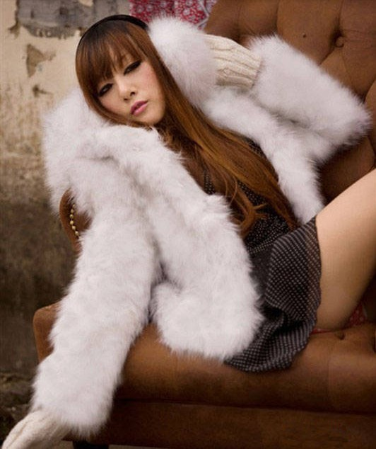 com : Buy Free Shipping 2013hat short design Hooded Faux fur coat