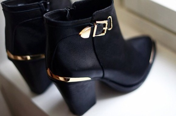 shoes ankle boots black booties black ankle boots heeled boots