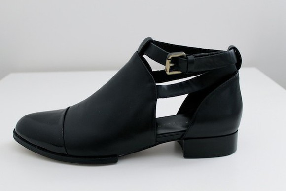 shoes ankle boots cut out boots