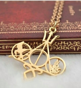jewels necklace gold harry potter divergent the hunger games the mortal instruments