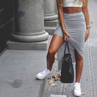 skirt outfit made dress grey dress black skirt top crop tops shorts streetwear