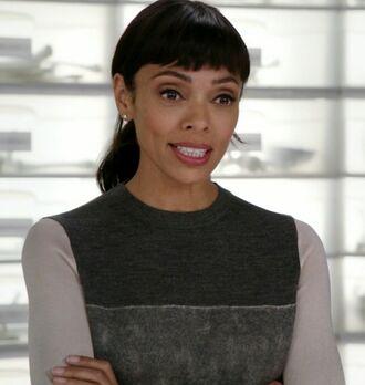 sweater grey colorblock bones tv show tamara taylor dr camille saroyan