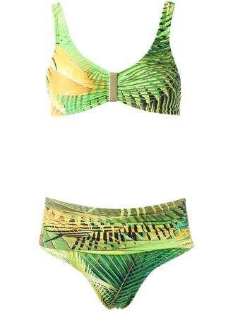 bikini bandeau bikini women spandex green swimwear