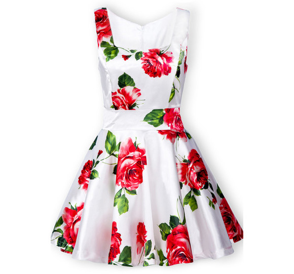 dress floral flower florals floralvintagedress floral vintage dress clothing clothes