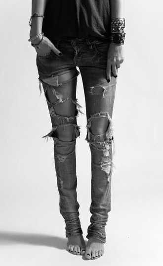 jeans black jeans ripped jeans