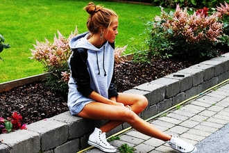 sweater grey summer look outfit fashion clothes winter outfits lov grey black