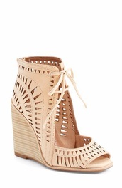 shoes,jeffrey campbell,wedges tan,summer shoes