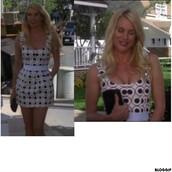 dress,eddie,red,white,black,circle,desperate housewives,short dress