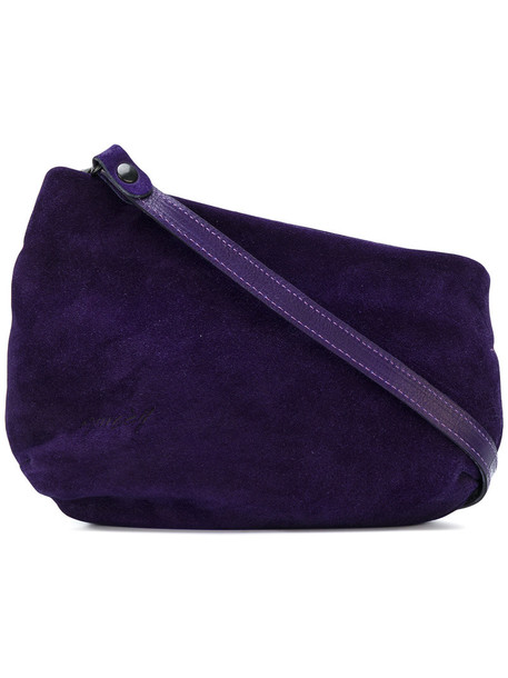 women bag shoulder bag suede purple pink