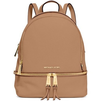 bag michael kors beige leather backpack backpack