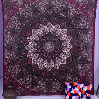home accessory tapestry wall tapestry wall hanging star mandala star tapestries magical night starrynight queen bedcover living room holiday gift blanket hippie wall tapestry