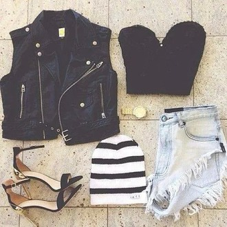 top black crop tops grunge