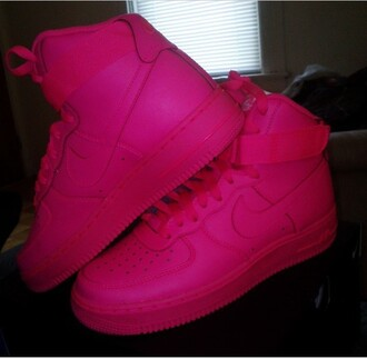 shoes nike nike high tops nike air force 1 all pink pink high top sneakers high top nikes nike shoes