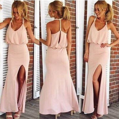 Just a hint of pink maxi