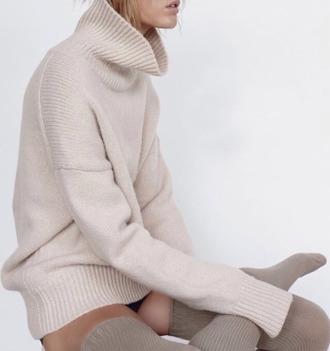 sweater oversized sweater turtleneck sweater