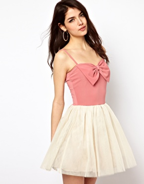 Paprika bow front dress at asos