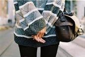 sweater,grey,white,stripes,chevron,blouse,blue sweater,winter sweater,cozy
