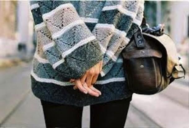 sweater grey grey white stripes chevron blouse blue sweater winter sweater cozy
