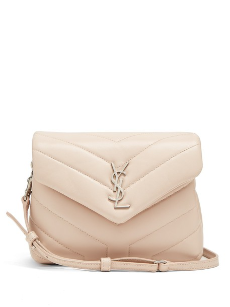 cross quilted bag leather light pink light pink