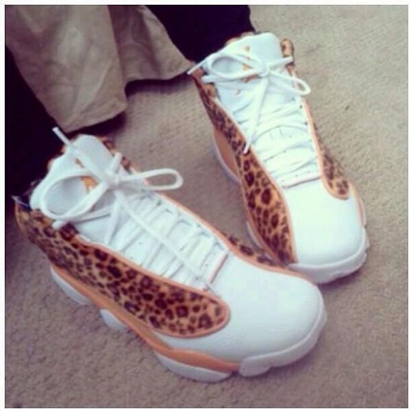 shoes jordan's cheetah print