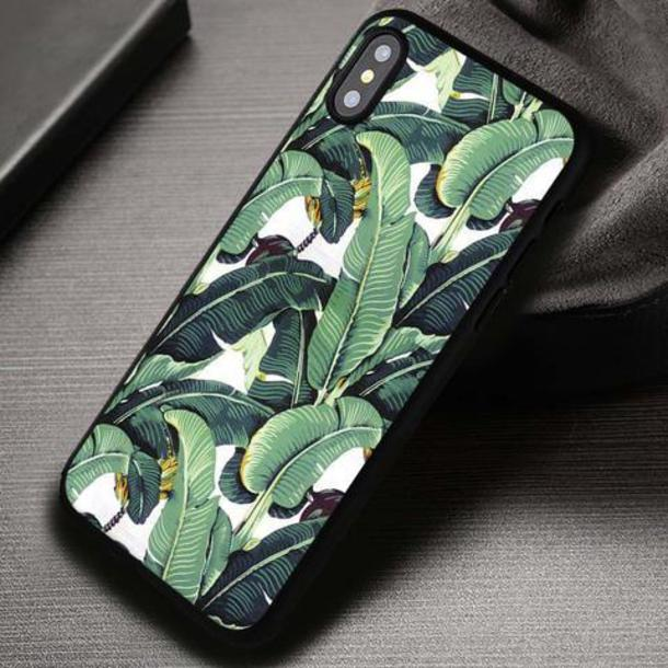 banana leaf iphone 8 plus case