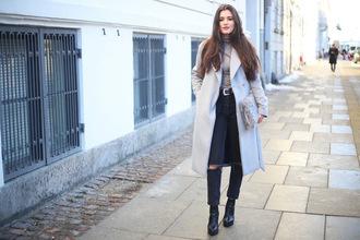 ilirida krasniqi blogger jacket jeans bag belt shoes