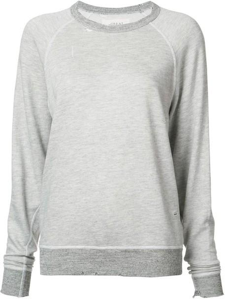 The Great sweatshirt women cotton grey sweater
