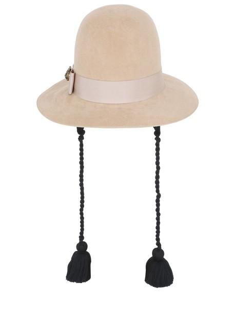 gucci hat felt hat black camel