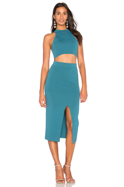 Endless Rose dress bodycon bodycon dress knit teal
