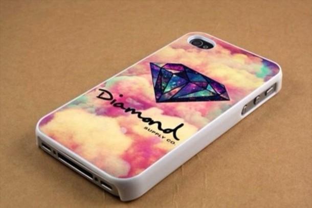 Jewels Iphone 5 Case 5c Phone Cover Diamond Supply Co Dope Galaxy Print Diamonds