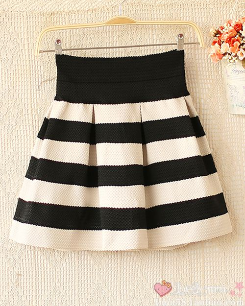 Sweety Womens Girls Mini Dress Retro Flared Black and White Stripe Skirt Sales | eBay
