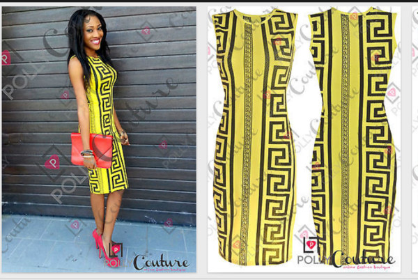 dress yellow dress aztec little black dress black and yellow