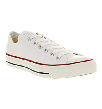 Converse all star ox low optical white canvas shoes
