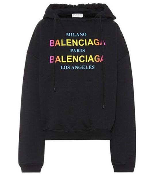 Balenciaga hoodie cotton black sweater