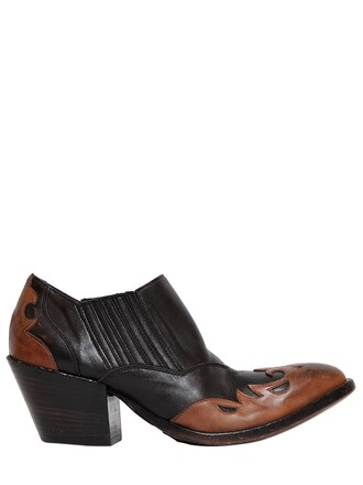 leather ankle boots boots ankle boots leather black brown shoes