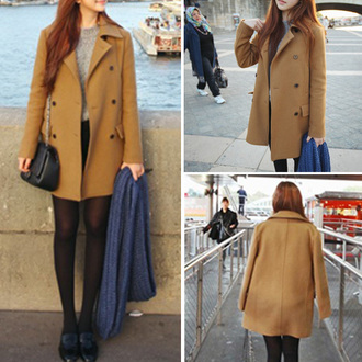 classy popular fashion preppy noble and elegant beauty girl women new cool warm clothes coat woolen coat long coat warm coat beautiful cute sexy winter coat