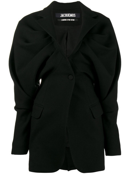 Jacquemus blazer women cotton black wool jacket